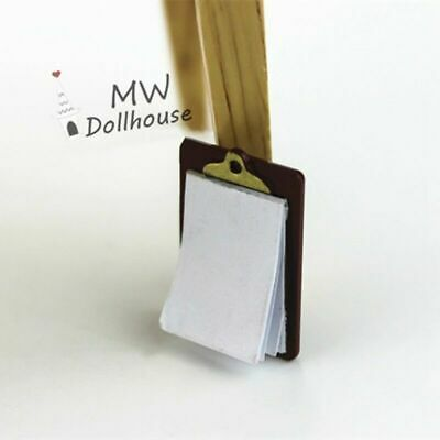 Children Pretend Play Toys Mini Clipboard Dollhouse Accessory Usable Item Great