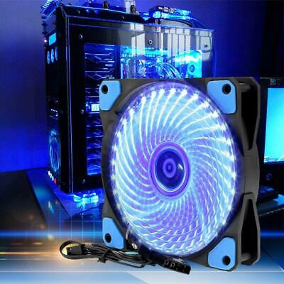 120x120mm DC 12V 15 LED 4Pin PC Computer Case Heatsink Cooler Cooling Fan X3