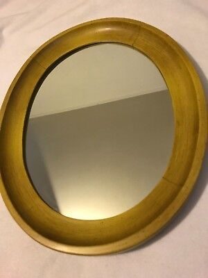 Tell City Chair Company Oval Wall Mirror # 89 Antique Yellow A3144