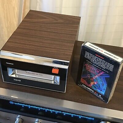 Toyo CH-322 8 Track Tape Player Deck Mint But Sound Out Of One Side Only So Asis