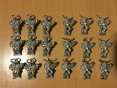 18 Chaos Space Marine Warhammer 40k metal flamer and plasma heavy weapons lot