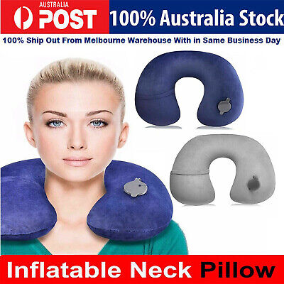 Soft Inflatable Travel U Shape Pillow Air Cushion Neck Rest For Flight Car Plane