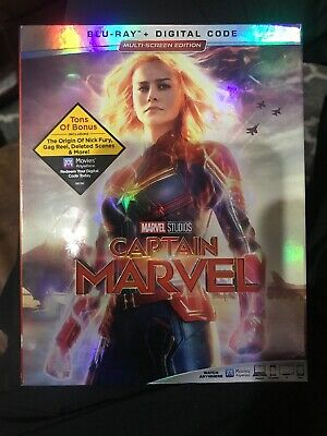 CAPTAIN MARVEL (Blu Ray Disc Only 2019) DISC IS NEW NO DIGITAL With SLIPCOVER