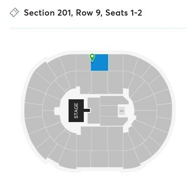 2 Tickets Luke Combs 11/6/19 SAP Center San Jose, CA Sect. 201 Row 9 Seats 1 & 2