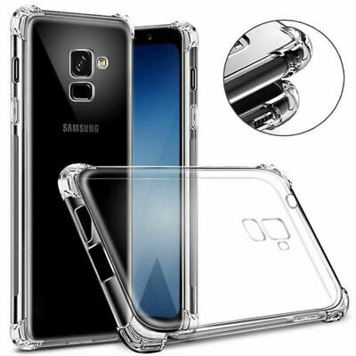 For Samsung S10 Plus A7 A9 2018 J4 J6 Anti-shock Edge Clear Silicone Case Cover