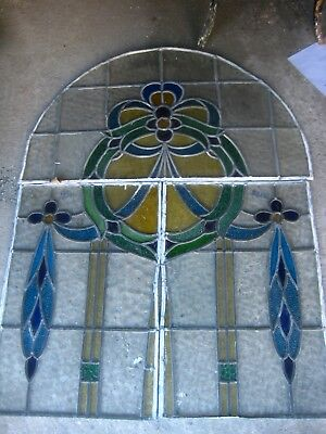 A512   Victorian Arch and 2 stained glass  side windows Ca 1890s