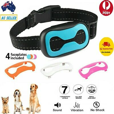 Anti Bark Stop Barking Dog Training Rechargeable Collar For All Size Dogs aus