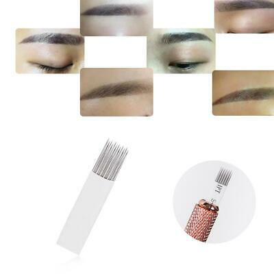 10pcs Eyebrow Microblading Needles permanent Eyebrow Manual Tattoo Pins Tool Set