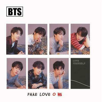 Kpop BTS FAKE LOVE YOURSELF ANSWER Album Photo Cards O Version Photocard 7pcs