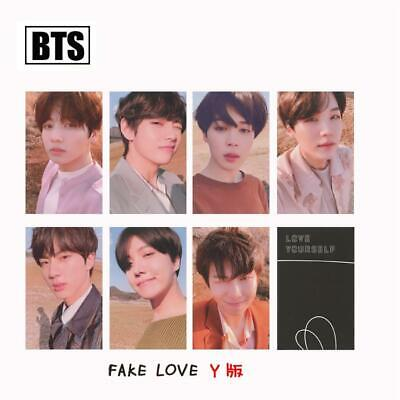 Kpop BTS FAKE LOVE YOURSELF ANSWER Album Photo Cards Y Version Photocard 7pcs