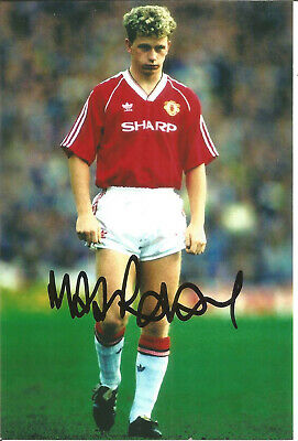 Football Autograph Mark Robbins Manchester United Signed Photograph F1386