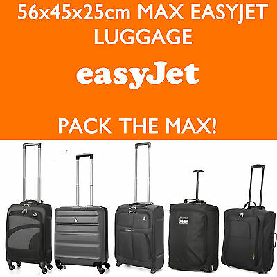 Easyjet 56x45x25 Max Grand Cabine Main Transport Valise Bagage Chariot de Voyage
