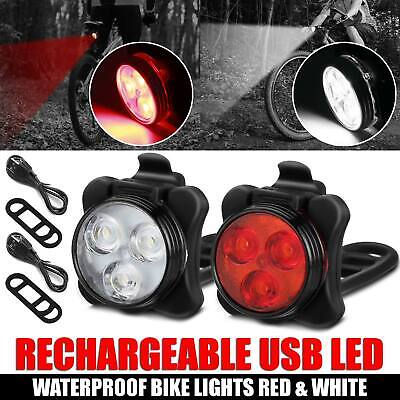 Rechargeable Bright LED Bike Lights Set – Headlight Taillight Combinations LED