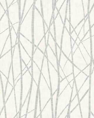 3,30£//1qm Non-Woven Wallpaper Branch white grey silver Metallic 6716-10