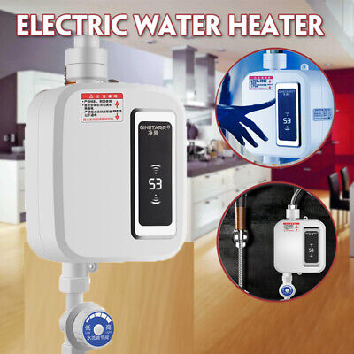 Bathroom Tankless Hot Water System Instant Electric Kitchen Sink Water Heater