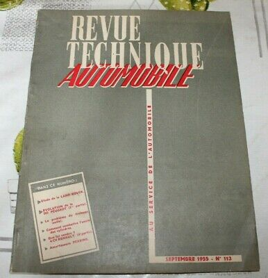 Revue Technique Automobile- Rta N° 113  - Land Rover - 1955
