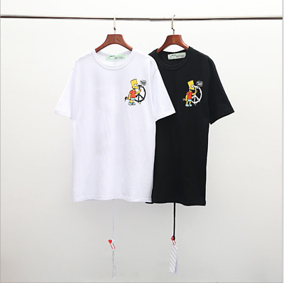 OFF OW WHITE Simpson short-sleeved European version of men and women T-shirt