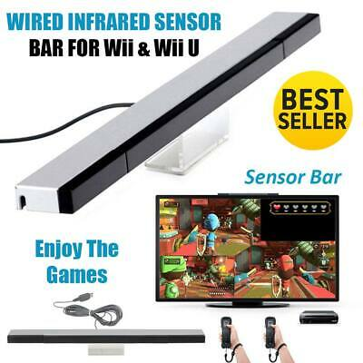 Sensor Bar For Nintendo Wii & Wii U With Stand Wired Infrared Receiver – New