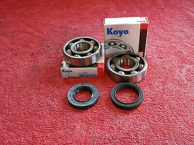 Yamaha TDR125 '91-'02 Koyo Crankshaft Main Bearings x2 & crank seals x2