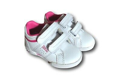 Brand New Baby Toddler Girls 'Everlast' White Pink Trainers Size Uk 3 Infant