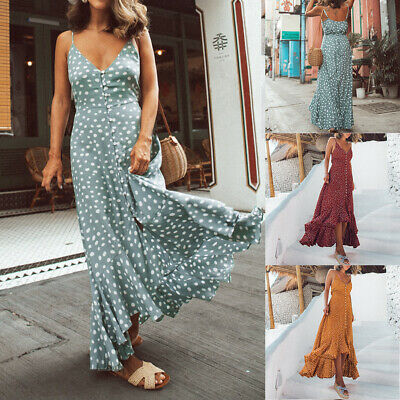 Party Summer Evening Sundress Boho Long Beach Floral Maxi Women's Dress Cocktail