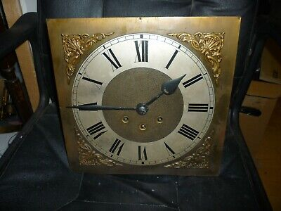 Antique Brass Dial Longcase Grandfather Clock Springer Westminster Movement