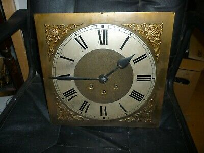 Antique Brass Face Grandfather Clock Spring Driven Westminster Chime Movement