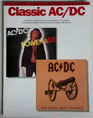 Ac/Dc Powerage & For Those About To Rock Guitar Tab Songbook Tablature Book