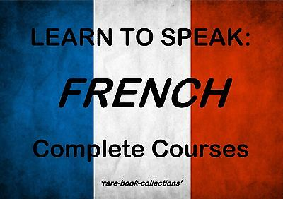 Learn To Speak French Fast - 10 Books & 110 Hrs Mp3 Audio Language Course On Dvd