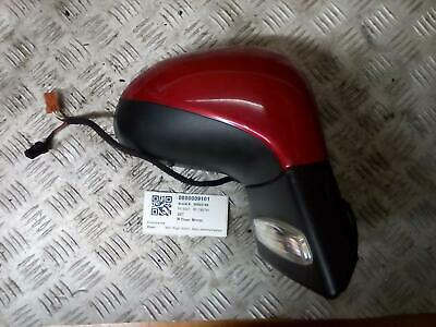 PEUGEOT 207 RIGHT Door Mirror Mk1 electric heated EKQ PAINT WICKED RED
