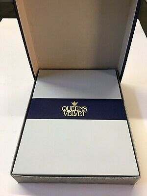 Queen's Velvet Luxury Letter Writing Paper Stationery Size 2 Wedgewood Box 200
