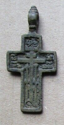 Russian Empire ancient orthodox bronze icon cross 1700-1800s original #23