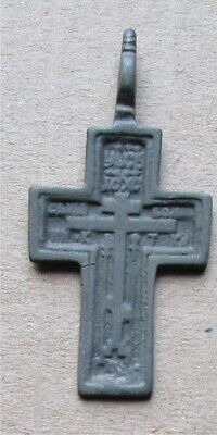 Russian Empire ancient orthodox bronze icon cross 1700-1800s original #24