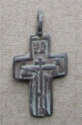 Russian Empire ancient orthodox bronze icon cross 1700-1800s original #14