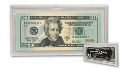 Plastic Currency Slab Holder Display Stand Frame For Regular Bill Dollar Clear