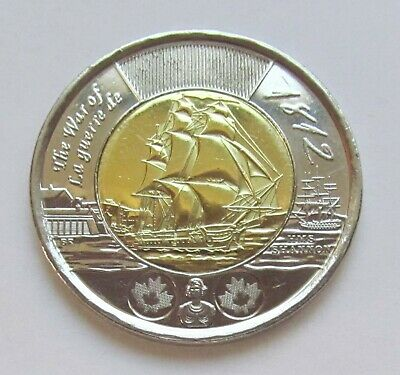 2012 CANADA COMMORATIVE 2 DOLLAR TOONIE - HMS SHANNON 1812  - Combined Shipping