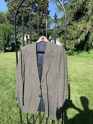 Ermenegildo Zenga at Bergdorf Goodman Vintage Brown/Grey Plaid Sport Coat