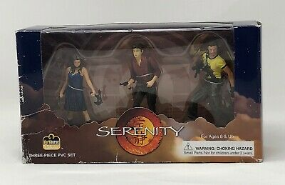 Firefly/Serenity Vintage PVC Figure set of 3 from Dark Horse- Package Shows Wear