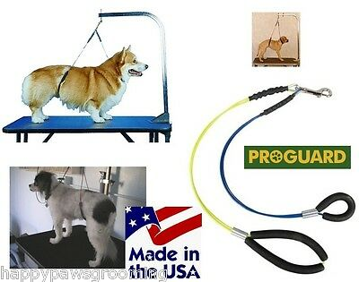 NO SIT Dog Grooming HEAVY DUTY Cable Loop Haunch Holder RESTRAINT Harness SM-MED