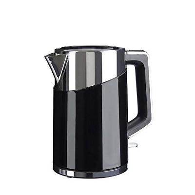 Sensio Home Water Dispenser Kettle - 1.7L High Capacity Black Metal Jug - 3kW -