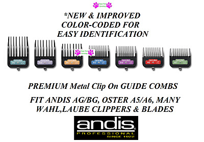 ANDIS PREMIUM METAL CLIP On Guide ATTACHMENT BLADE COMB Fit AGC,Wahl KM Clippers