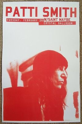 PATTI SMITH 2013 Gig POSTER Portland Oregon Concert