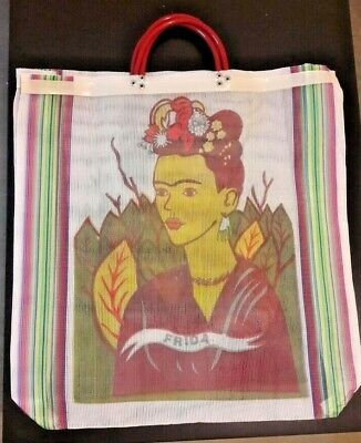 395a3a886f72 2 PACK FRIDA Mesh Market Bag Large Eco Purse Reusable in Assorted ...