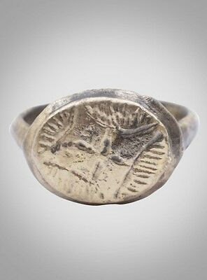 Ancient Byzantine Ring C.600-900A.D. Size 5  (15.8mm)