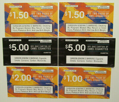 NEWPORT AND CAMEL Cigarette Pack Coupons *~* $7 off