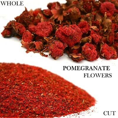 Pomegranate Flowers Whole & Cut, Dried Flowers, Soap Candle Tea Bath Bomb Crafts