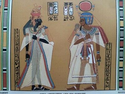 1904 Ancient Egyptian Painting Original Antique Matted Print