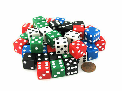 10Pcs Six Sided Square Opaque 10mm D6 Dice Portable Table Games Tool RI