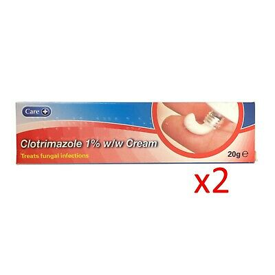 Clotrimazole 1% Antifungal Cream 20g x2 (2 pack)  - FAST AND FREE DELIVERY