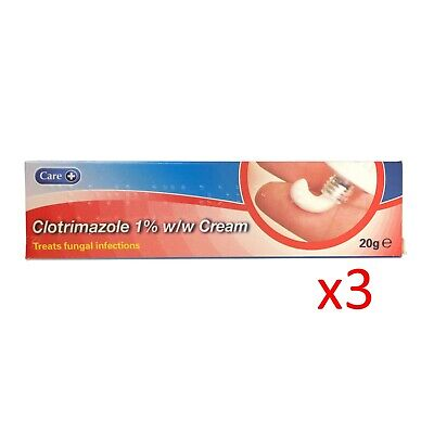 Clotrimazole 1% Antifungal Cream 20g x3 (3 pack)  - FAST AND FREE DELIVERY